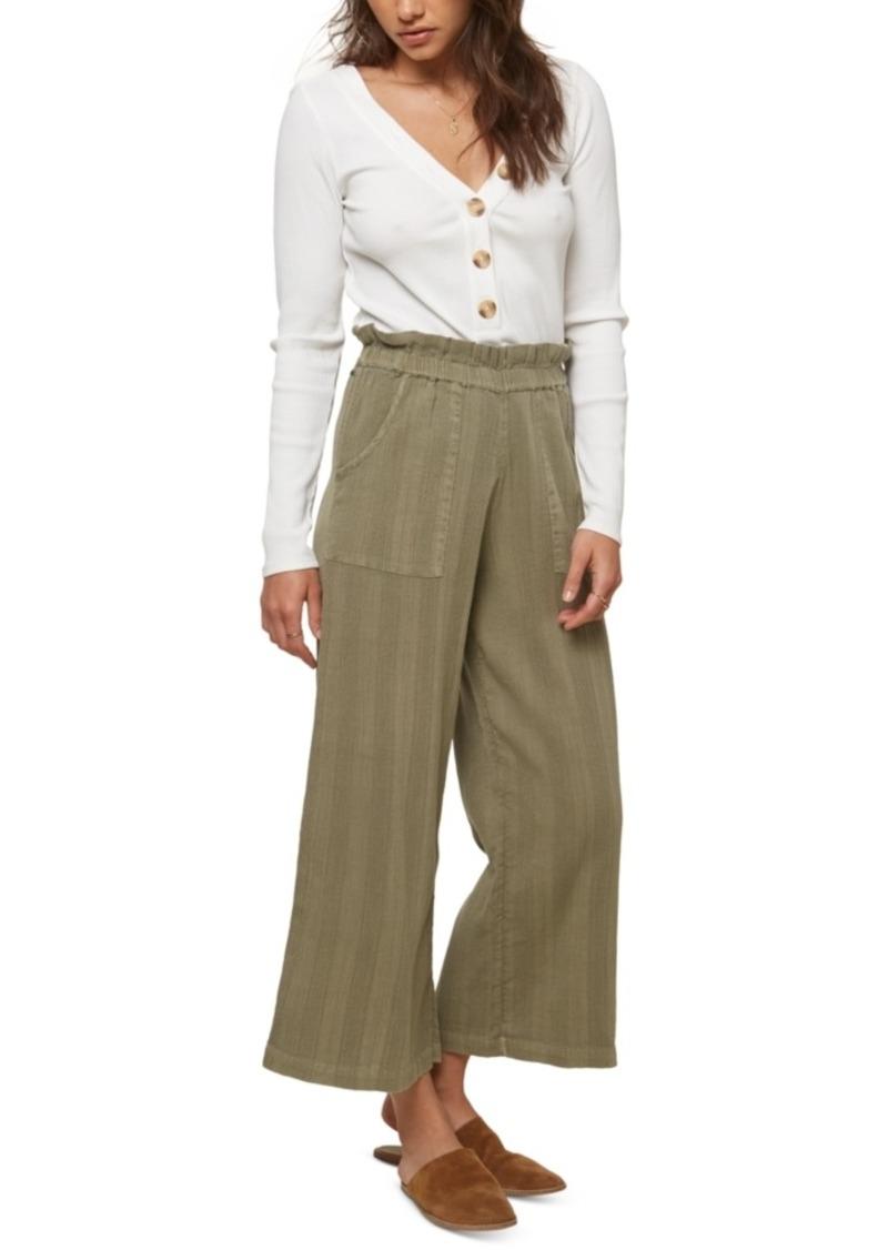 O'Neill Juniors' Jasper Cotton Paperbag Pants