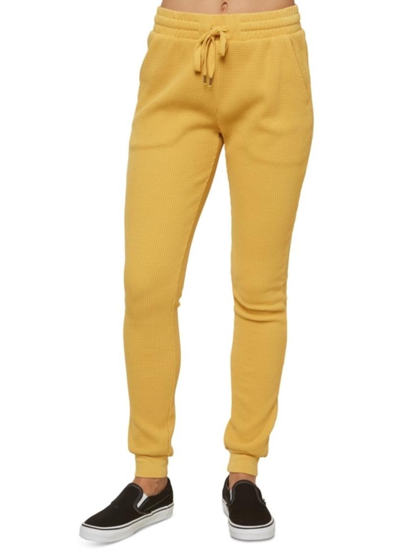O'Neill Juniors' Kadence Cotton Waffle-Knit Pants