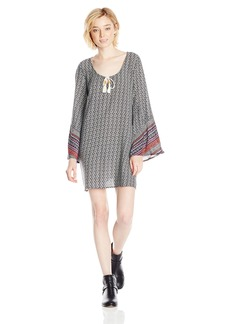 O'Neill Junior's Kimmy Printed Woven Sleeved Dress