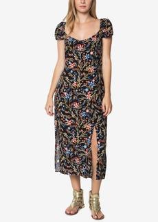 O'Neill Juniors' Kylie Printed Midi Slit Dress