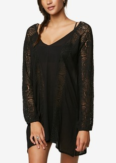 O'Neill Juniors' Lace Cut-Out Dress Cover-Up Women's Swimsuit