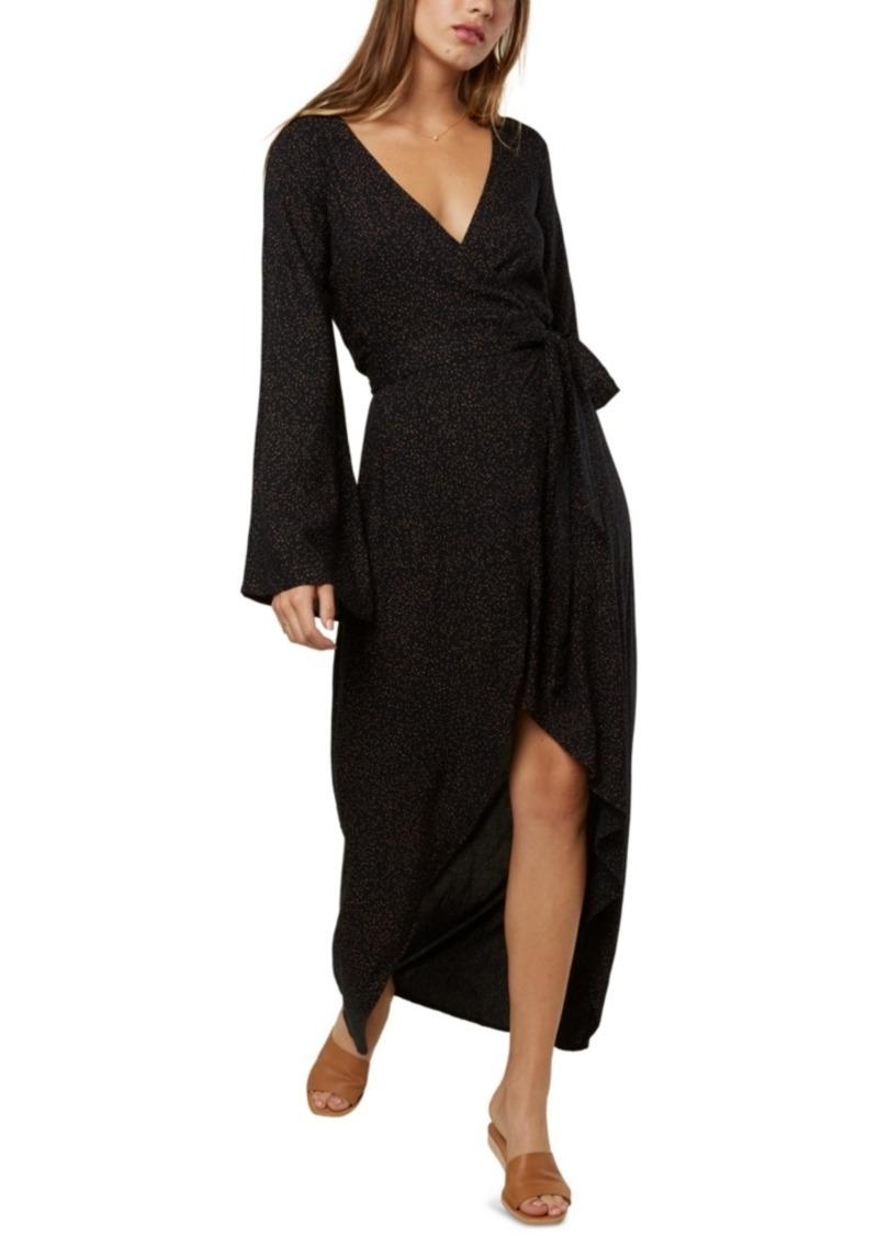 O'Neill Juniors' Liya Wrap-Front Maxi Dress