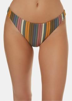 O'Neill Juniors' Lora Striped High-Leg Cheeky Bikini Bottoms Women's Swimsuit