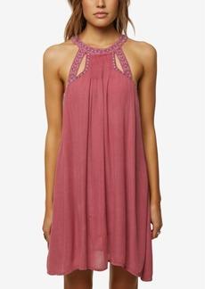 O'Neill Juniors' Luminous Embroidered-Cutout Dress