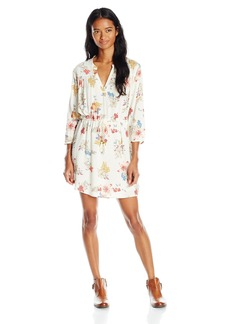 O'Neill Juniors Lynn Floral Woven Shirt Dress