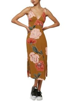 O'Neill Juniors' Mallorie Floral-Print Midi Dress