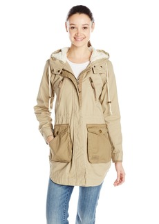 O'Neill Junior's Mariah Sherpa ined Military Jacket  arge
