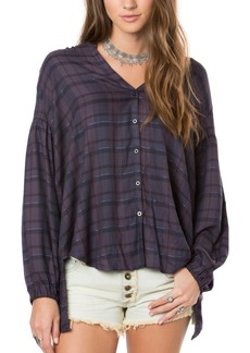 O'NEILL Junior's Marilyn Plaid Blouse  M
