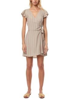 O'Neill Juniors' Maurie Flutter-Sleeve Wrap Dress