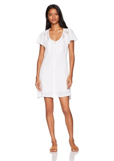 O'Neill Junior's Nova Lace Front Dress White/White S