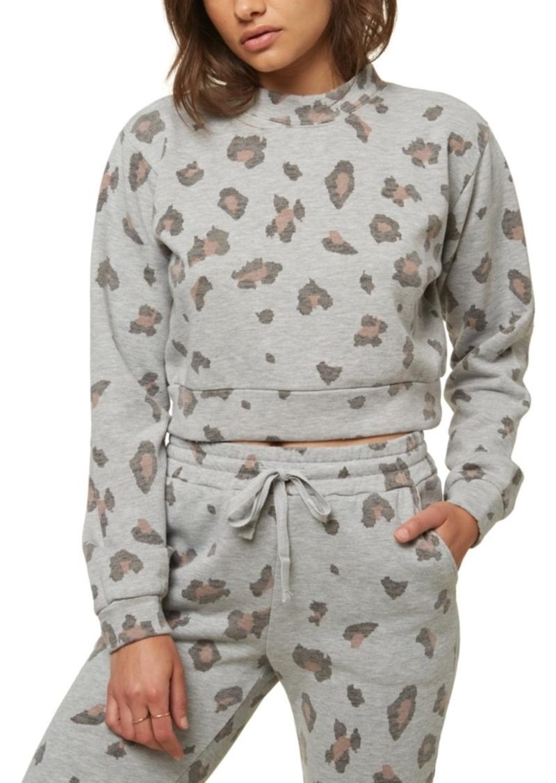O'Neill Juniors' Novie Cropped Camo-Print Sweatshirt