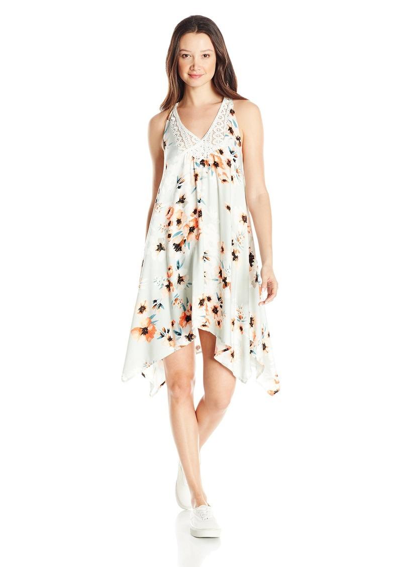 O'Neill Juniors Odessa Printed Woven Dress with Crochet