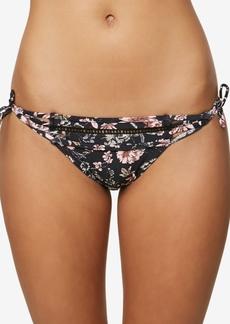 O'Neill Juniors' Printed Side-Tie Cheeky Bikini Bottoms Women's Swimsuit