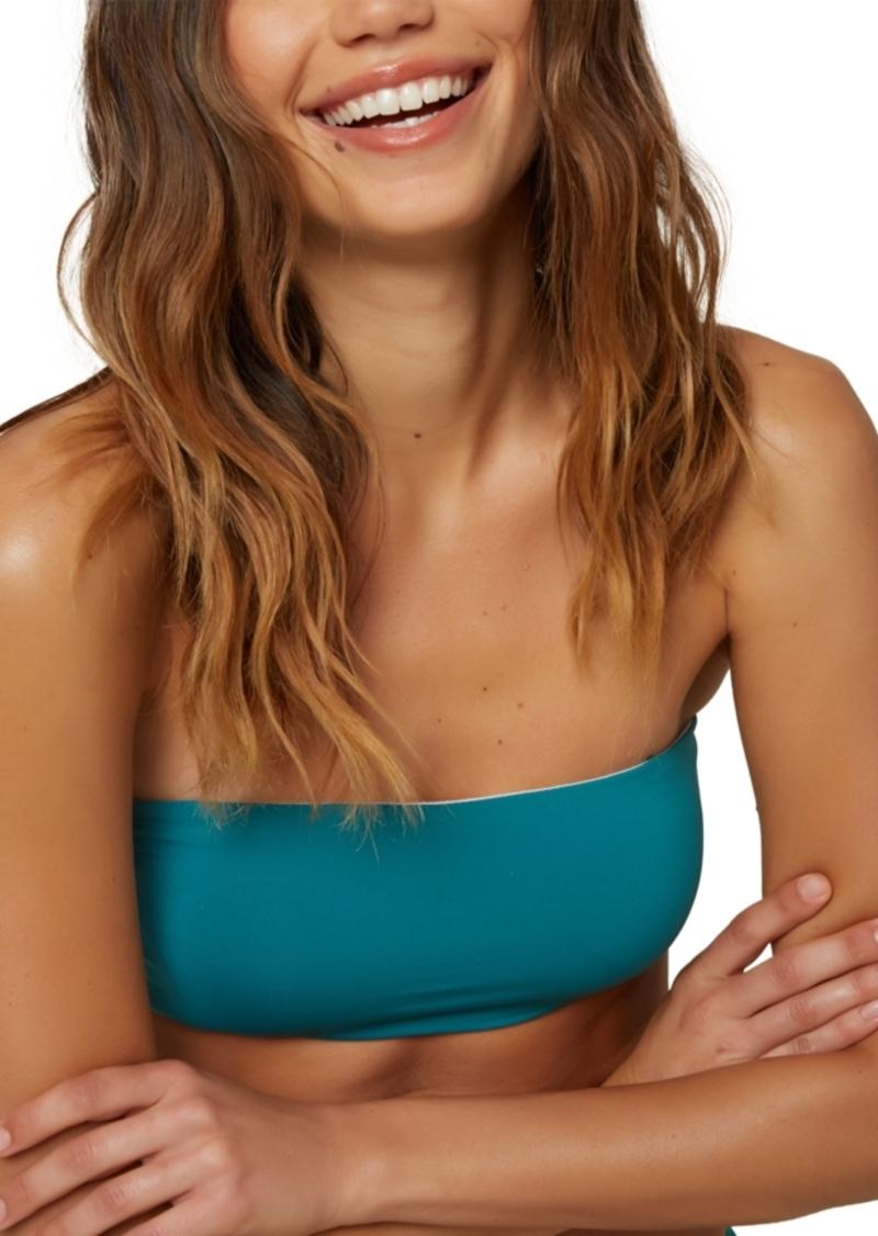 O'Neill Juniors' Saltwater Solids Bandeau Bikini Top Women's Swimsuit