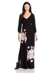 O'Neill Juniors Sandra Long Sleeve Woven Maxi Dress