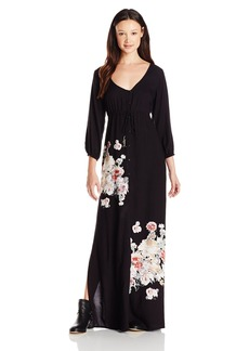 O'Neill Juniors Sandra Long Sleeve Woven Maxi Dress