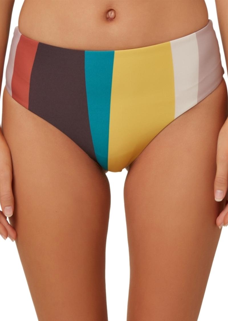 O'Neill Juniors' Sapa Striped High-Waist Bikini Bottoms Women's Swimsuit