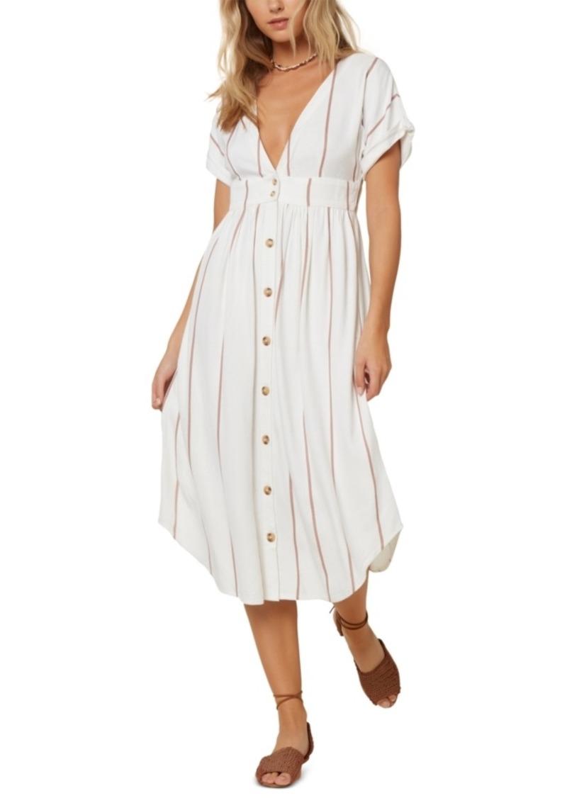 O'Neill Juniors' Striped Midi Dress