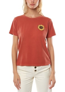 O'Neill Juniors' Sun Baked Cotton Sunflower Graphic T-Shirt