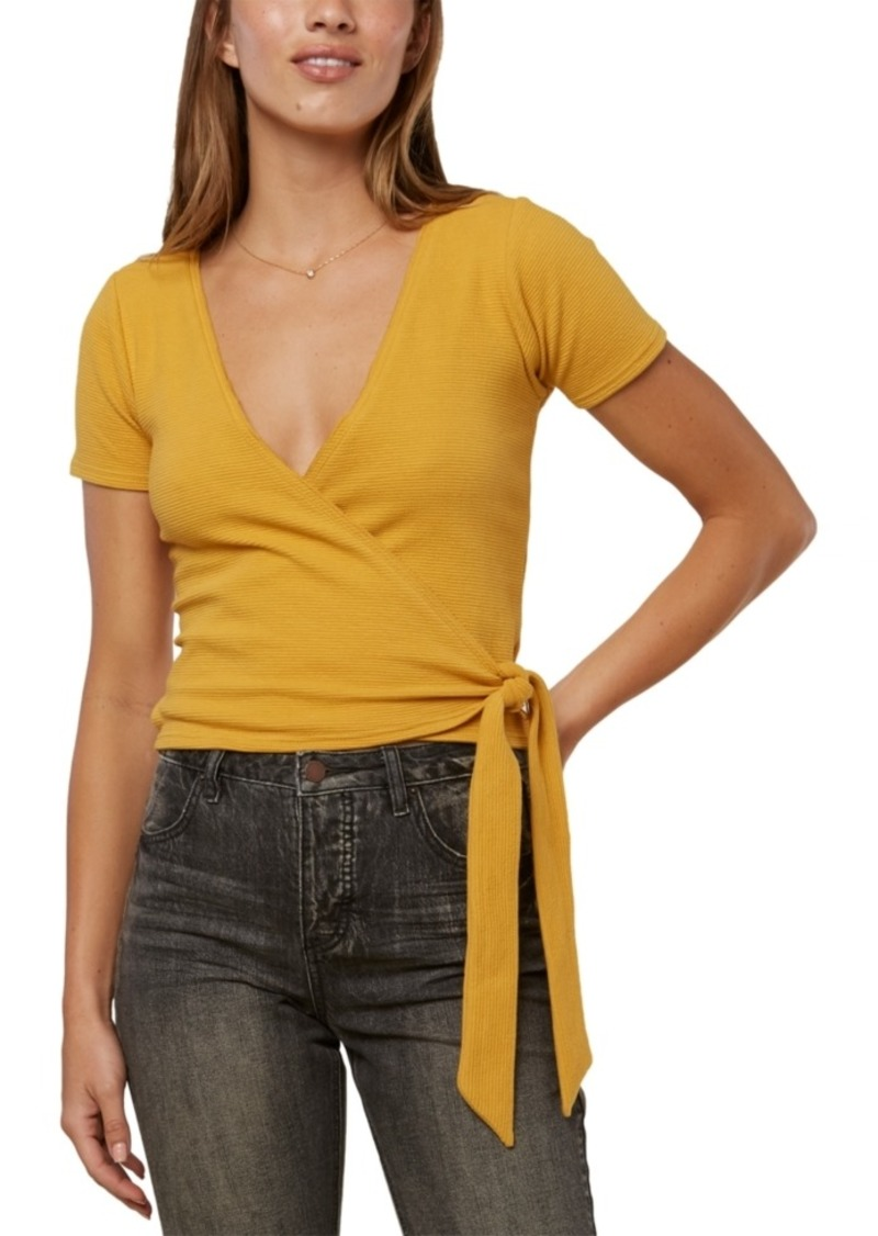 O'Neill Juniors' Tabby Cropped Wrap Top