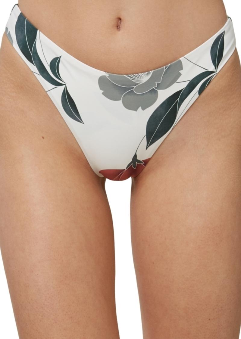 O'Neill Juniors' Trinity Printed High-Leg Cheeky Bikini Bottoms Women's Swimsuit