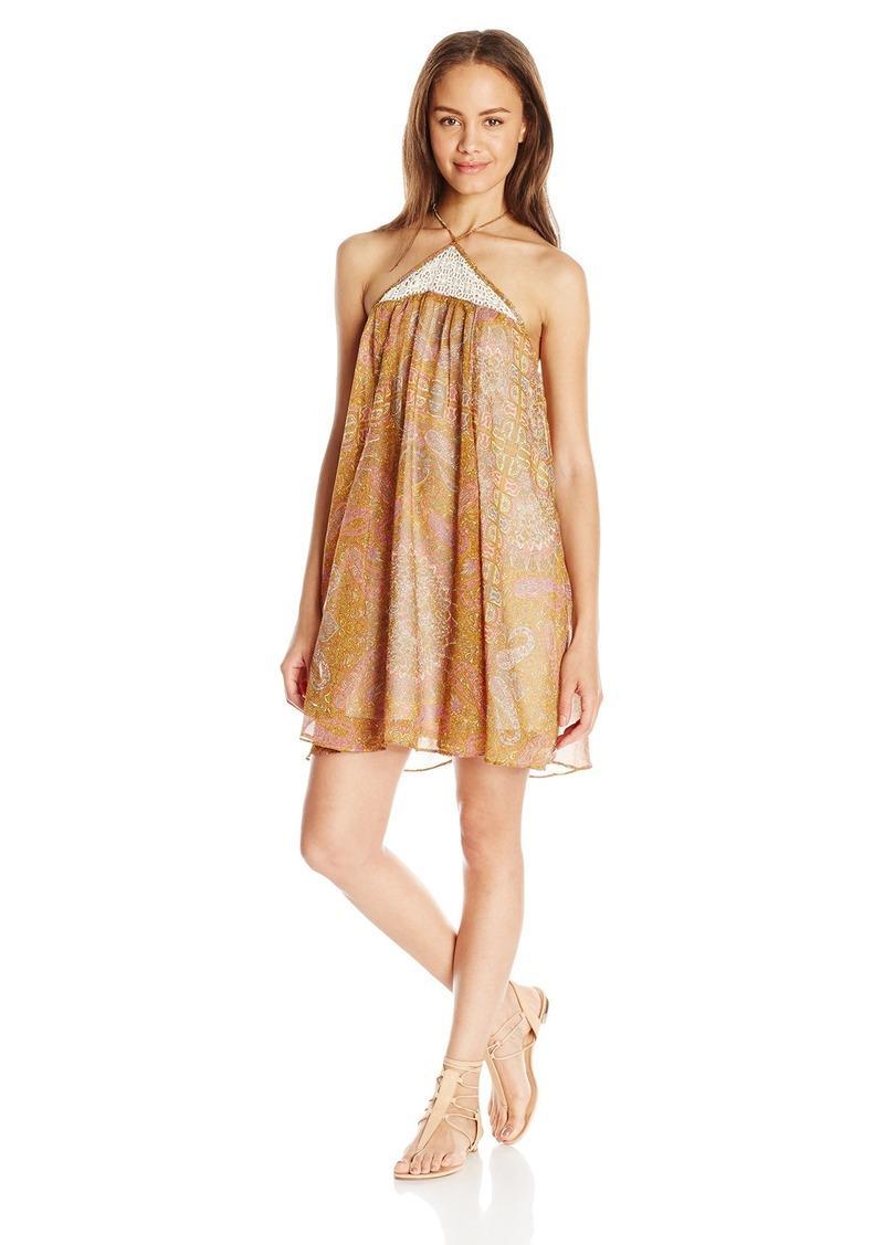 O'Neill Juniors Vadella Printed Woven Dress with Crochet ulti edium