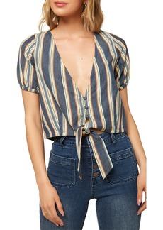 O'Neill Kaylee Tie Hem Stripe Top