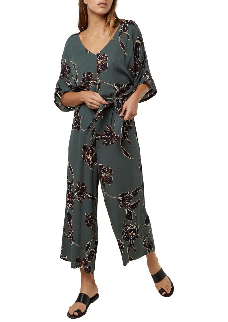O'Neill Kendal Floral Print Woven Crop Jumpsuit