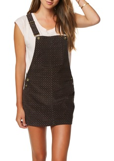 O'Neill Kipling Print Corduroy Pinafore Dress