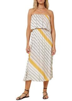 O'Neill Koia Stripe Strapless Dress