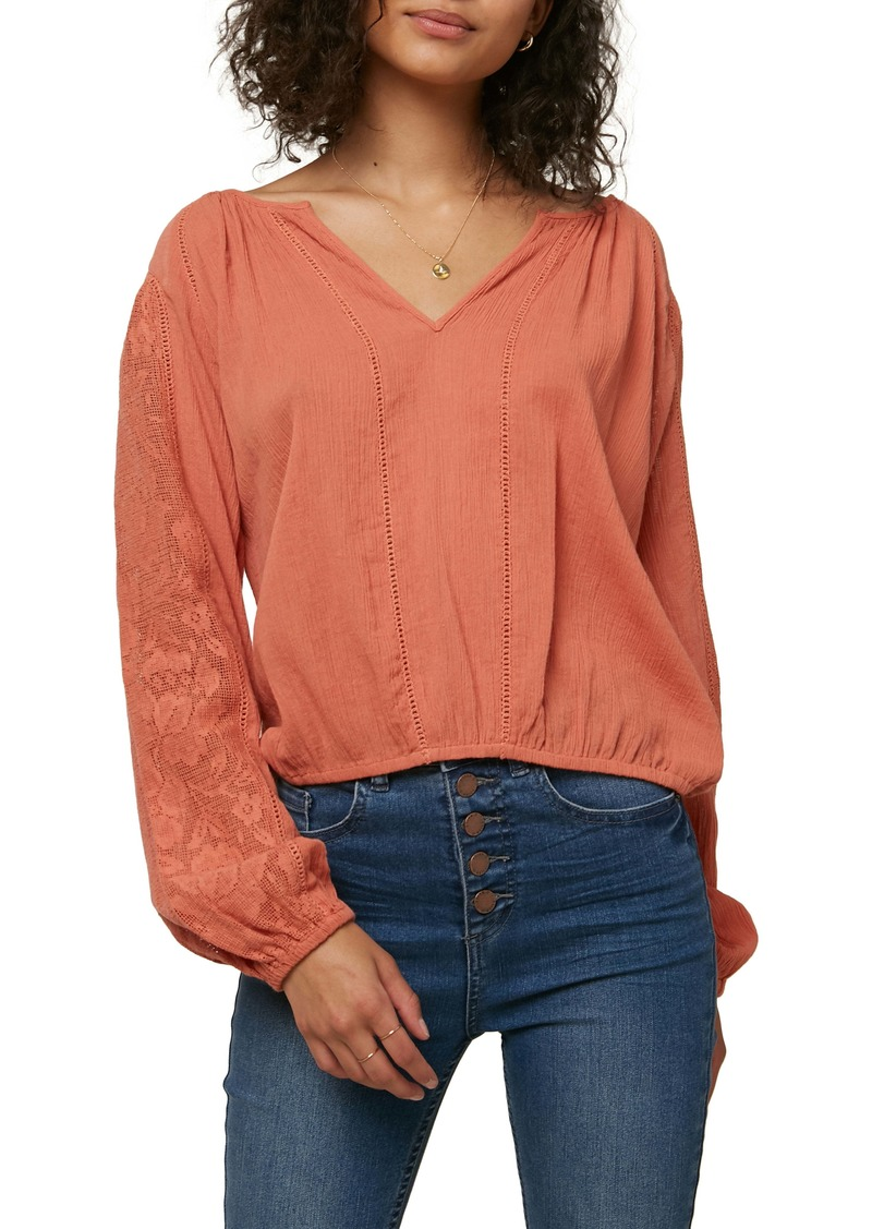 O'Neill La Riviere Lace Panel Top