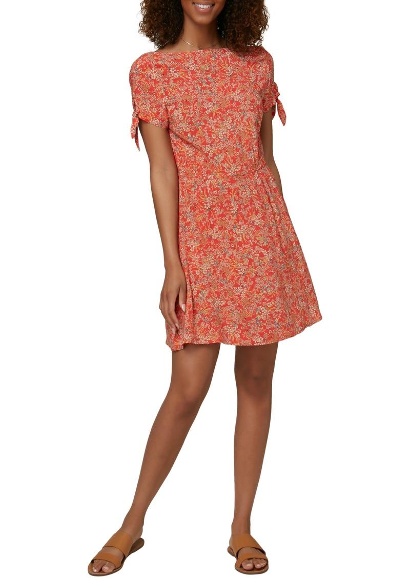 O'Neill Luciana Floral Tie Sleeve Minidress