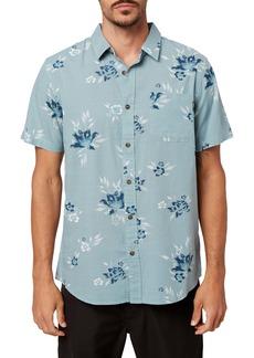 O'Neill Melody Modern Fit Tropical Short Sleeve Button-Up Shirt