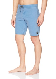 O'NEILL Men's 19 Inch Outseam Cruzer Stretch Swim Boardshort Faded Air Force Blue/Vintage Wash