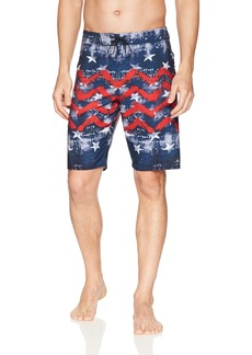 O'NEILL Men's 20 Inch Outseam Hyperfreak Stretch Swim Boardshort Red White Blue/Independence