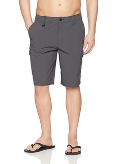 O'NEILL Men's 21 Inch Outseam Cargo Pocket Hybrid Stretch Walk Short Asphalt/Traveler .0