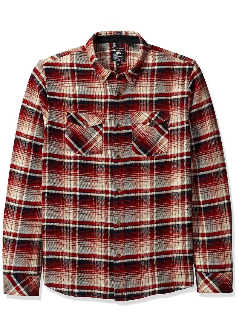 O'Neill Men's Butler Flannel Button Up Shirt Red