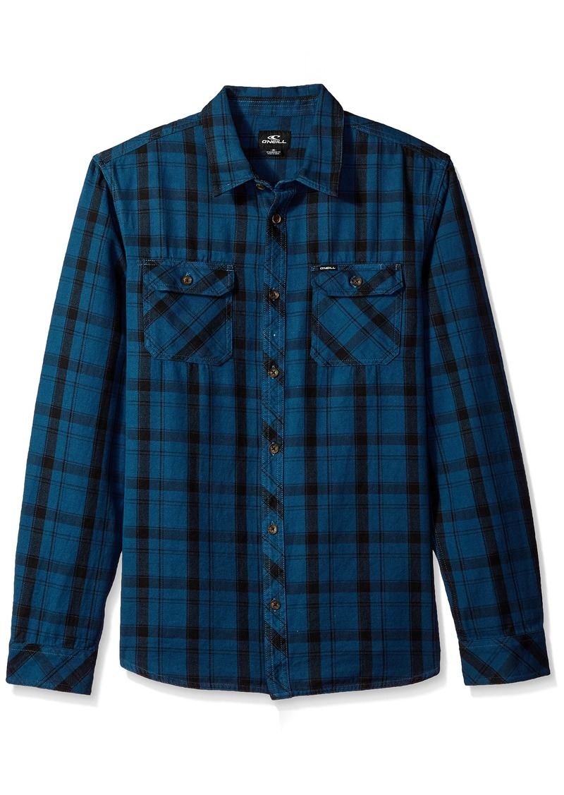 O'Neill Men's Carpenter Long Sleeve Button Up Shirt Dark Blue XXL