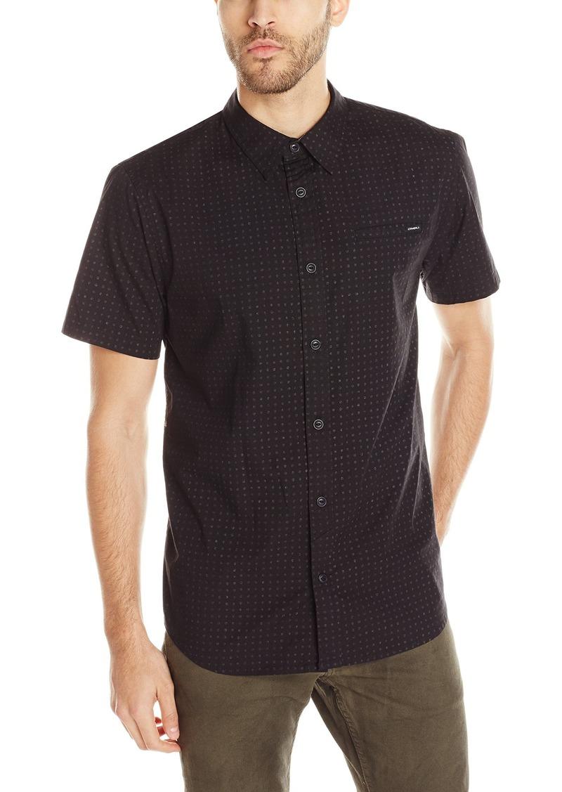 O'NEILL Men's Casual Modern Fit Short Sleeve Woven Button Down Shirt Black/Inked