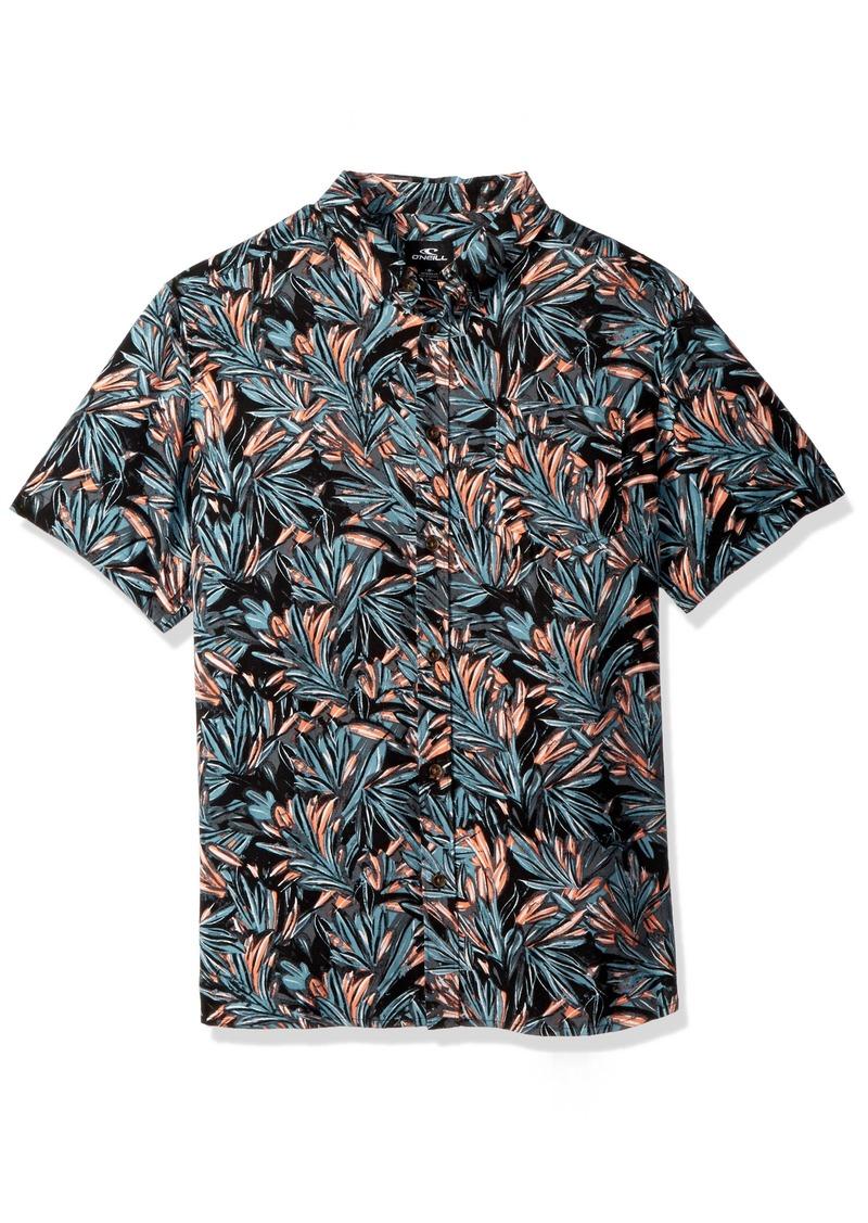 O'Neill Men's Casual Modern Fit Short Sleeve Woven Button Down Shirt  L