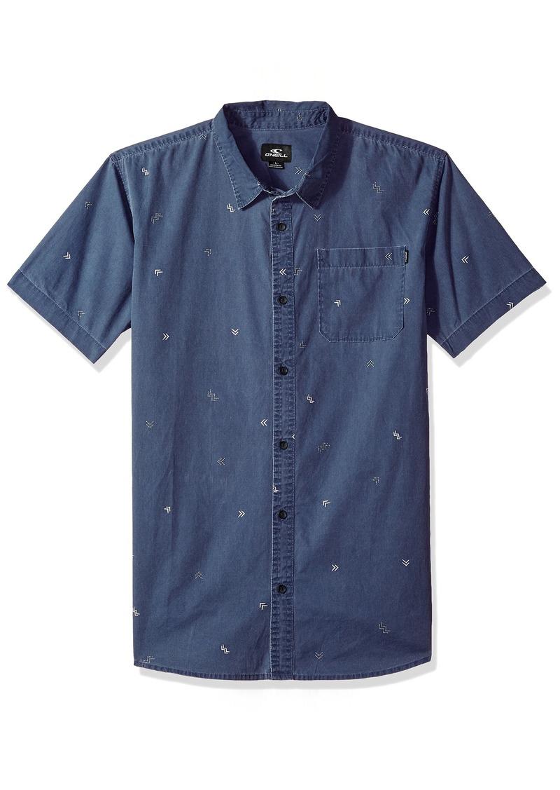 O'Neill Men's Casual Modern Fit Short Sleeve Woven Button Down Shirt  XL