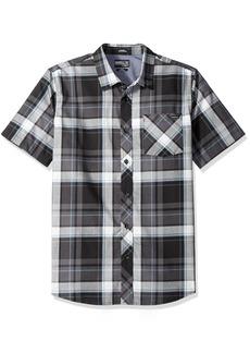O'Neill Men's Casual Standard Fit Short Sleeve Woven Button Down Shirt Black/Plaid 2XL