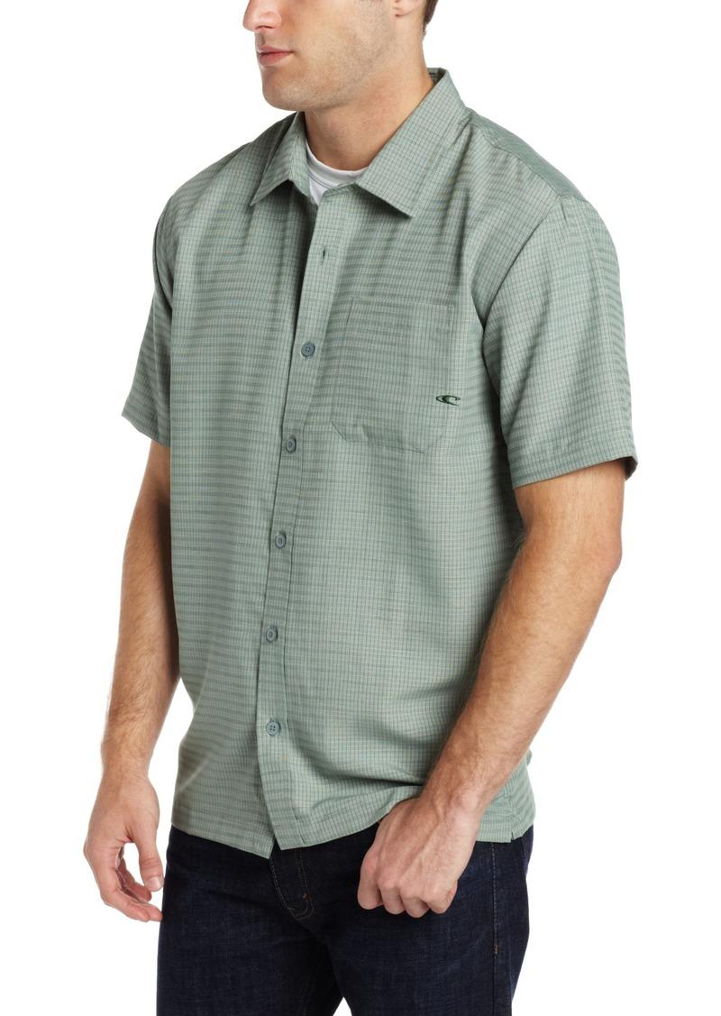 O'NEILL Men's Casual Standard Fit Short Sleeve Woven Button Down Shirt Green/Clancy