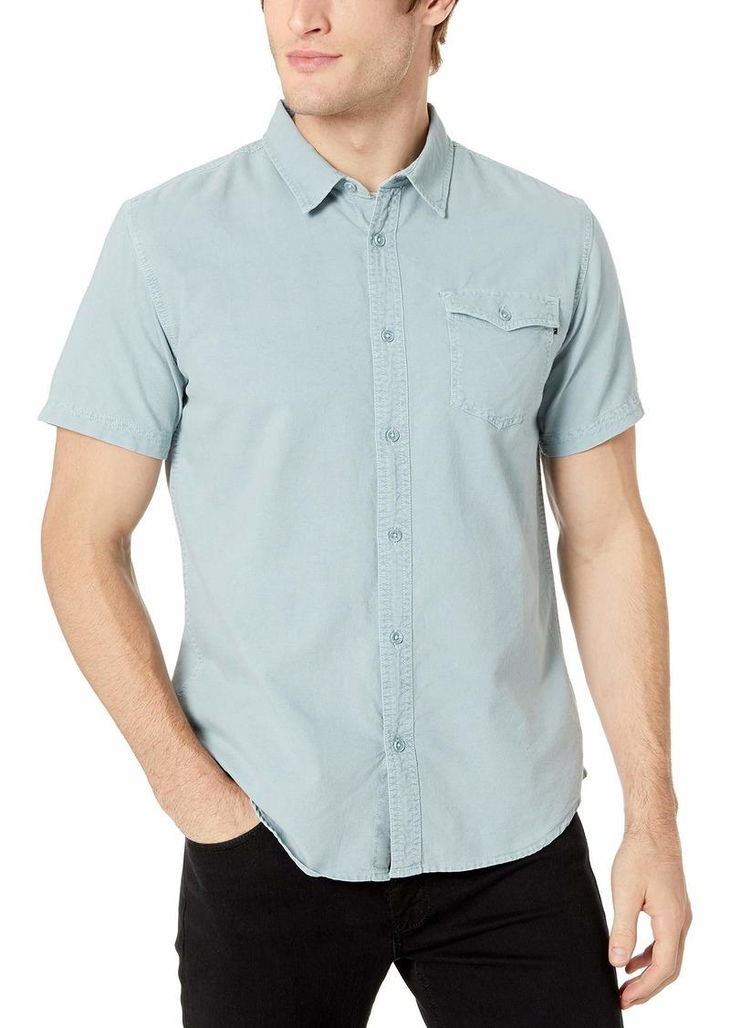 O'NEILL Men's Casual Standard Fit Short Sleeve Woven Button Down Shirt Light Indigo/Steaddy XL