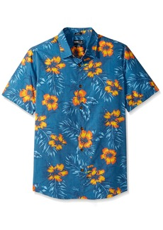 O'NEILL Men's Casual Standard Fit Short Sleeve Woven Button Down Shirt Ocean/Ala Moana S