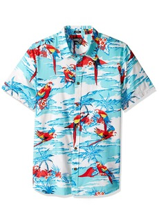 O'Neill Men's Casual Standard Fit Short Sleeve Woven Button Down Shirt Pool/Macaw
