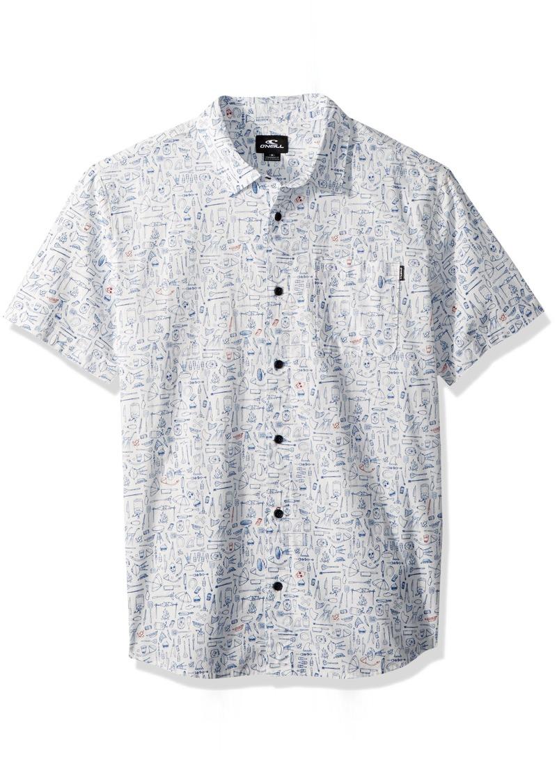 O'Neill Men's Casual Standard Fit Short Sleeve Woven Button Down Shirt  M