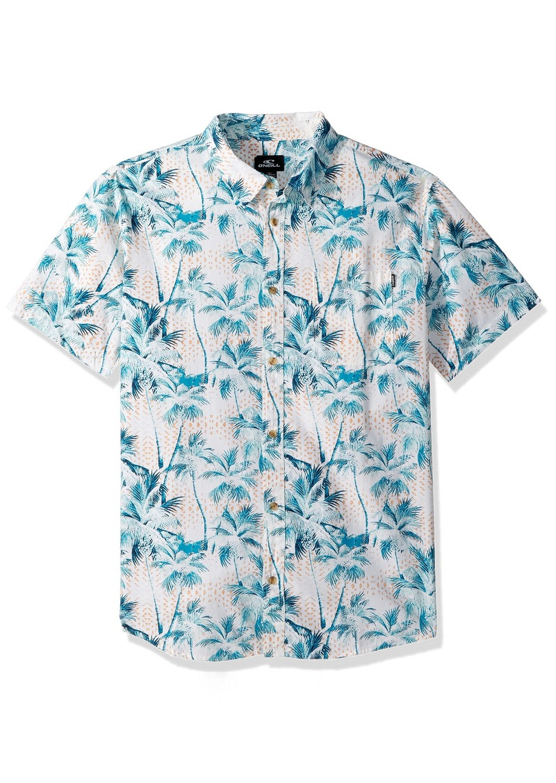 O'Neill Men's Casual Standard Fit Short Sleeve Woven Button Down Shirt  XXL
