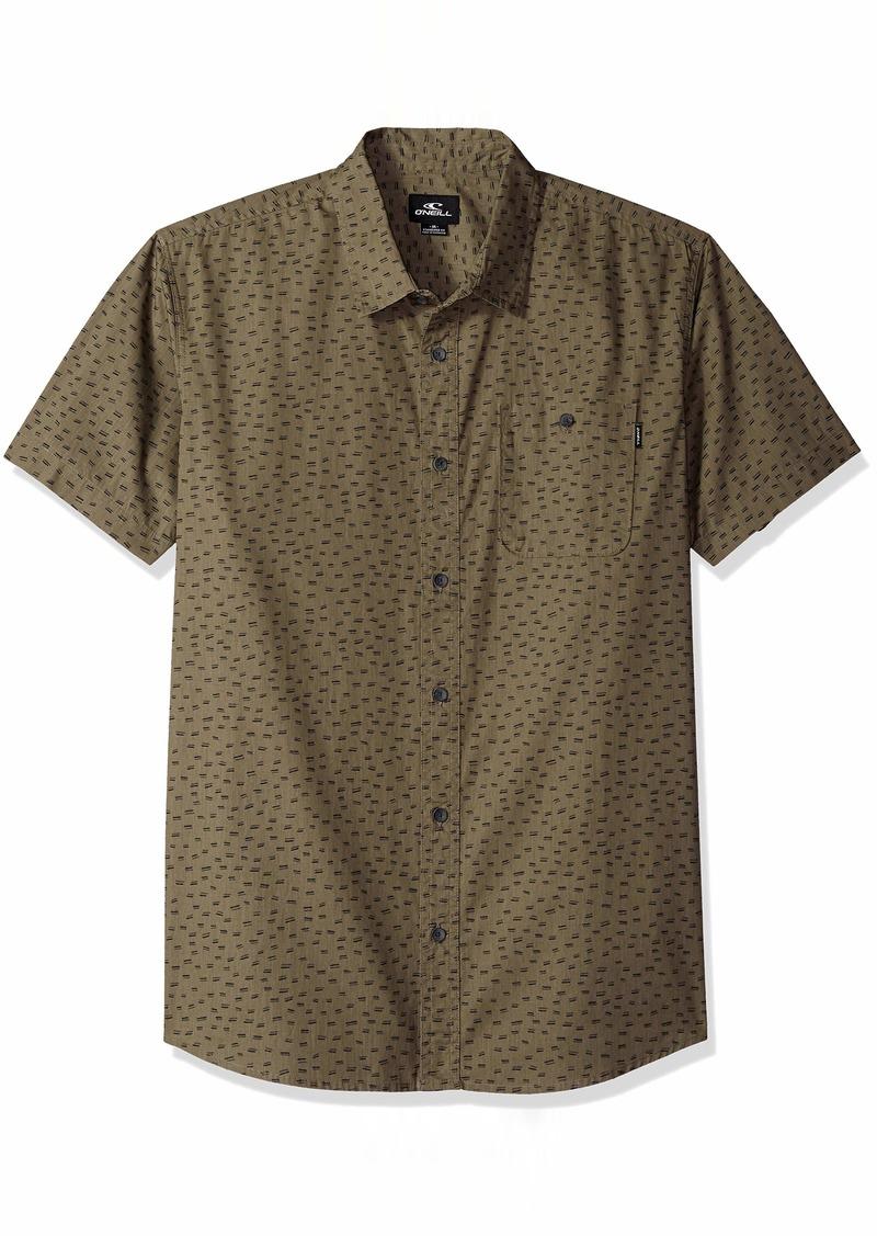 O'NEILL Men's Central Short Sleeve Woven Shirt Dark Army XXL