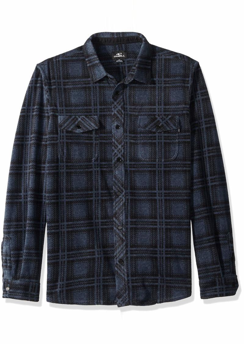 O'NEILL Men's Flannel Long Sleeve Woven Casual Button Down Shirt Dark Navy/Ridge S